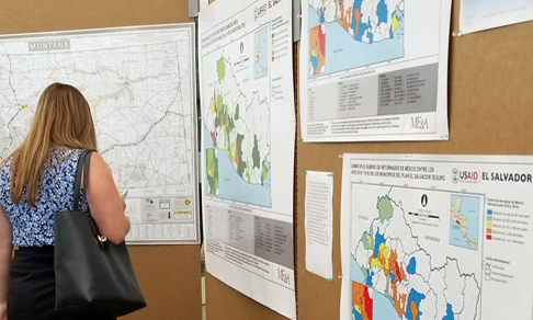 Eight of ME&L El Salvador's GIS maps were displayed at the 2019 Esri User Conference.